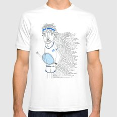 Tennis White SMALL Mens Fitted Tee
