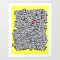 Stand Out  & Be Herd Art Print