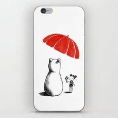 Polar bear at the beach iPhone & iPod Skin