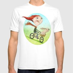 Bicicleta Mens Fitted Tee White SMALL