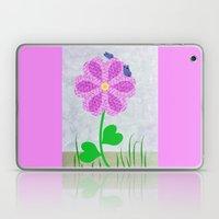 Une fleur avec deux papillons Laptop & iPad Skin