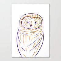 The Owl. Owl art, owls, owl print, owl illustration, nature, animals, children's  Canvas Print