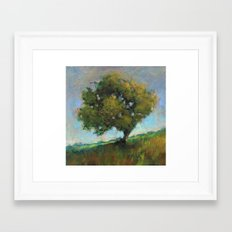 the orchard's ladder Framed Art Print