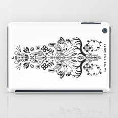 La Vie + La Mort: Black Ink iPad Case