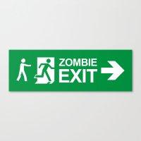 Zombie Exit Canvas Print
