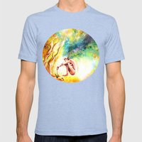 FISHING Mens Fitted Tee Tri-Blue SMALL