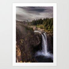 Twin Peaks Falls Art Print