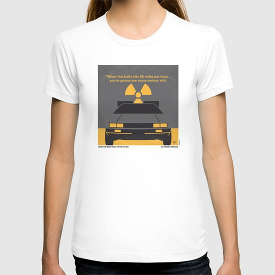 No183 My Back to the Future minimal movie poster T-shirt