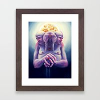 High Society Walrus Framed Art Print
