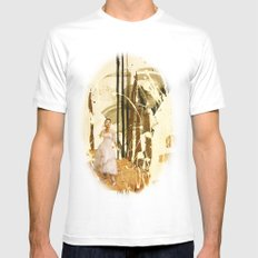 Wait Mens Fitted Tee White SMALL