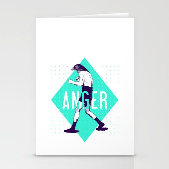 Anger Stationery Card