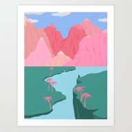 Girls' Oasis Art Print