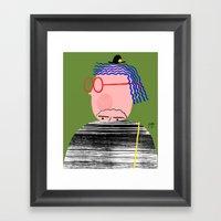 Not Here Framed Art Print