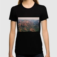 Vintage Hawaii Canyon Womens Fitted Tee Black SMALL