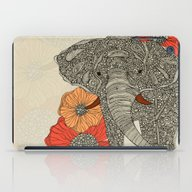 iPad Case featuring The Elephant by Valentina Harper