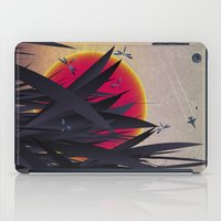 Red Heat with Dragonflies iPad Case