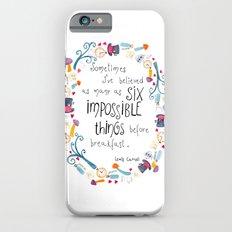 Alice in Wonderland - quote in wreath iPhone 6 Slim Case