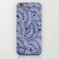 iPhone & iPod Case featuring Swirls Blue by Flo Thomas