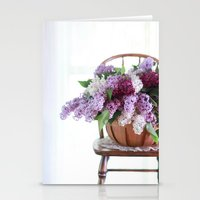 Bouquet of Beautiful - Lilacs  Stationery Cards