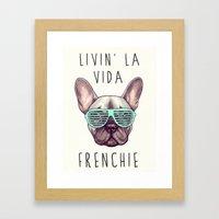 French Bulldog - Livin' … Framed Art Print