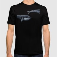 The Whale Who Met  Itsel… Mens Fitted Tee Black SMALL