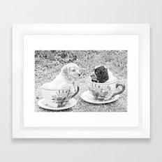 Teacup Puppies. Framed Art Print