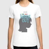 Inside Out - Minimal Movie Poster Womens Fitted Tee White SMALL