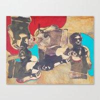 silkscreen test sheet Canvas Print