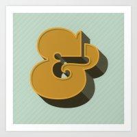 Heavy Ampersand Art Print