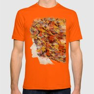 In Autumn Mens Fitted Tee Orange SMALL