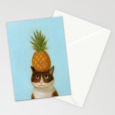 Pineapple Cat Stationery Cards