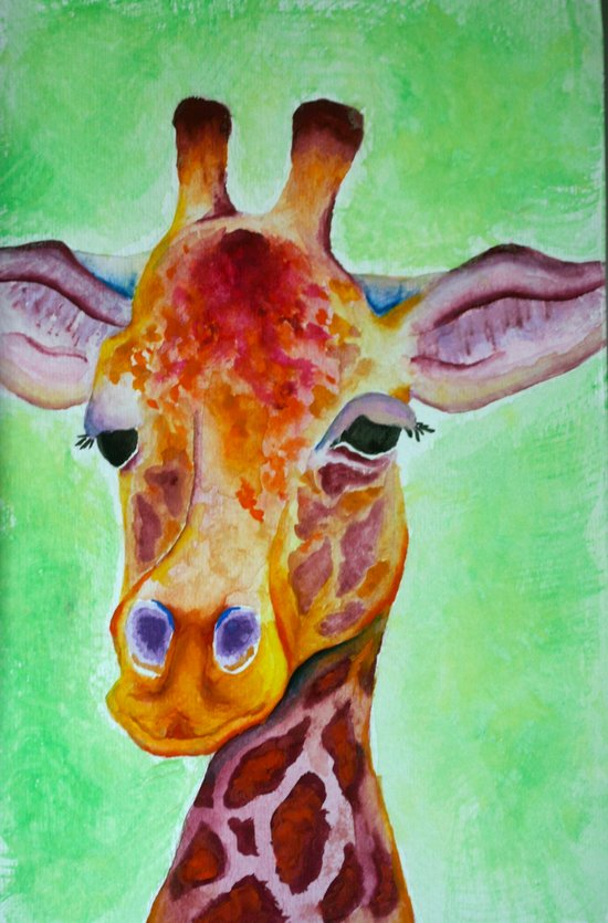 Colorful Giraffe Art Print