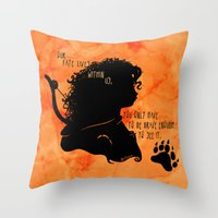 Our Fate Lives Within Us Throw Pillow