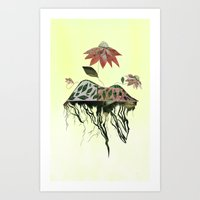 Uprooted Flowers Art Print