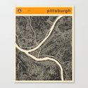 PITTSBURGH Map Canvas Print