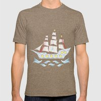 The Candy Armada Mens Fitted Tee Tri-Coffee SMALL