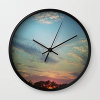 Dark Clouds File in When the Moon is Near Wall Clock
