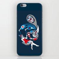 Swinging with La Muerta iPhone & iPod Skin