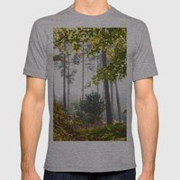Pine Trees Viewed Throug… Mens Fitted Tee Athletic Grey SMALL
