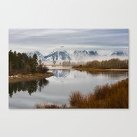 Early Spring Morning at Oxbow Bend, Wyoming Canvas Print