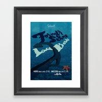 Former Selves + Lace Bow… Framed Art Print
