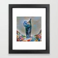 Elephant in my garden 2 Framed Art Print