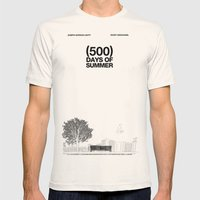 (500) Days Of Summer Mens Fitted Tee Natural SMALL
