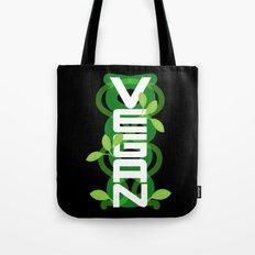 Vertical Vegan on Black Tote Bag