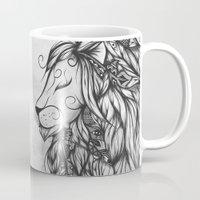 Poetic Lion B&W Mug