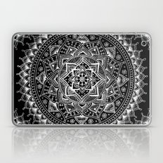 White Flower Mandala On … Laptop & iPad Skin