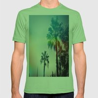 Palm Trees Of Barcelona Mens Fitted Tee Grass SMALL