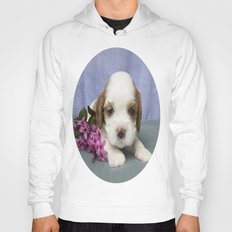 Puppy With Flowers Hoody