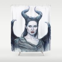 Maleficent Watercolor Po… Shower Curtain