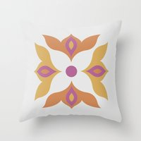 Spiced Swirls [Flower] Throw Pillow
